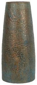 Vaso decorativo dourado e azul turquesa SEGOVIA