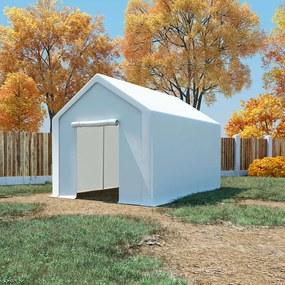 49304 vidaXL Tenda de armazenamento PE 3x4 m branco