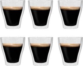 Copos para latte macchiato de parede dupla 6 pcs 280 ml
