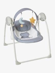Espreguiçadeira-baloiço dobrável com arco de atividades Astro'Nef, da vertbaudet cinzento claro liso com motivo