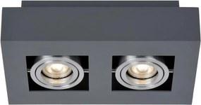 ITALUX IT8002S2-BK/AL - Iluminação de teto CASEMIRO 2xGU10/50W/230V