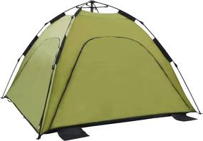 Tenda de praia pop-up 220x220x160 cm verde