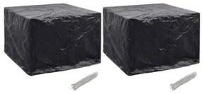 279134 vidaXL Capas para mobiliário de jardim 2 pcs 8 ilhós 122x112x98 cm