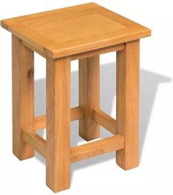 Mesa de apoio em carvalho maciço 27x24x37 cm