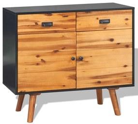 245480 vidaXL Aparador madeira de acácia maciça 90x33,5x83 cm