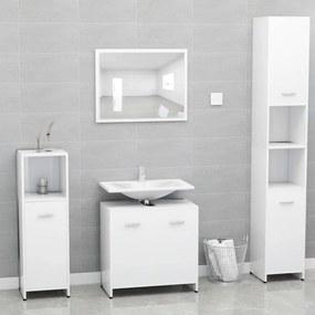 802579 vidaXL Conjunto de móveis de casa de banho contraplacado branco