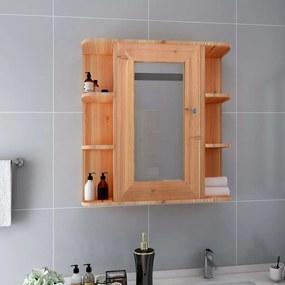 Armário espelhado para casa de banho 66x17x63 cm MDF carvalho