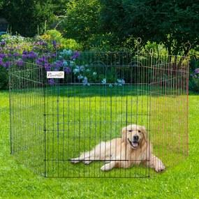 PawHut Parque de jogos para animais de estimação Dobrável Para Cães de 6 Painéis Ø120x66 cm Multicolor