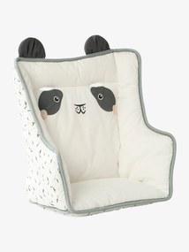 Almofada para cadeira alta, da Vertbaudet branco medio liso com motivo