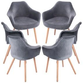 Pack 6 Cadeiras Dau Veludo