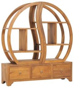 320775 vidaXL Móvel c/ prateleira Yin Yang 100x26x112 cm madeira teca maciça
