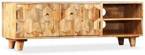 245136 vidaXL Armário TV madeira de mangueira maciça 118x35x40 cm