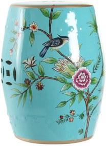 Mesa de Apoio DKD Home Decor Porcelana Pássaros (35 x 35 x 45 cm)