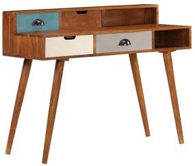 247937 vidaXL Secretária 110x50x90 cm madeira de acácia maciça