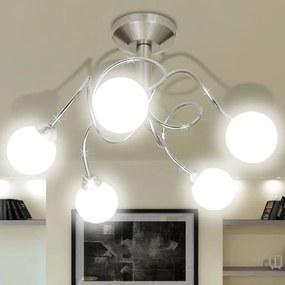 240992 vidaXL Lâmpada de teto com vidro de tons redondo para 5 G9 bulbos