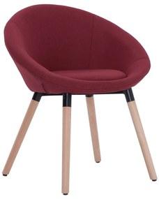283437 vidaXL Cadeira de jantar tecido vermelho tinto
