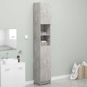 Armário casa banho 32x25,5x190 cm contraplacado cinza cimento