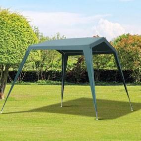 Outsunny Tenda de Jardim 3,3x2,4x2,1m Impermeável Tubo de Aço Verde