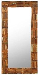 246419 vidaXL Espelho de parede em madeira recuperada maciça 60x120 cm