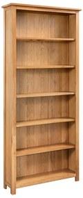 288474 vidaXL Estante com 6 prateleiras 80x22,5x170cm madeira carvalho maciça