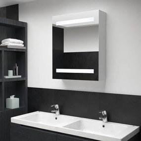 285115 vidaXL Armário espelhado para casa de banho com LED 50x14x60 cm