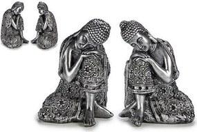 Estátuas de jardim Prata Resina Prata (9,5 x 15 x 12 cm)
