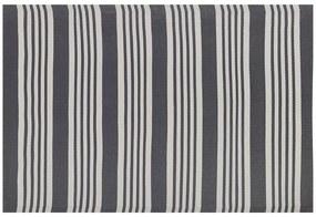 Tapete de exterior 120 x 180 cm preto e cinza claro DELHI