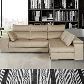 Sofá com Pouf e Assentos Deslizantes | Oslo - 3 Assentos » L 240 cm