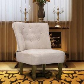240286 vidaXL Cadeira francesa tecido creme