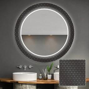 Espelho decorativo redondo com iluminação para o banheiro    o=60 cm