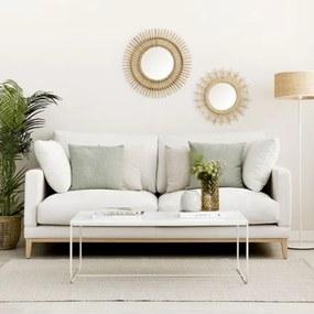 Sofá penta natural de 3 lugares com pernas