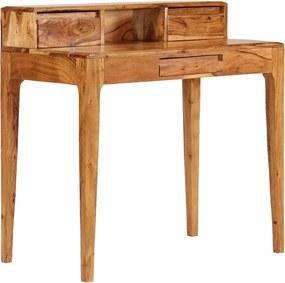 Secretária com gavetas madeira maciça 88x50x90 cm