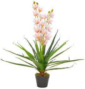 280169 vidaXL Planta orquídea artificial com vaso 90 cm rosa