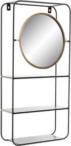 Prateleira de Casa de Banho DKD Home Decor Metal Cristal (32 x 12 x 65 cm)