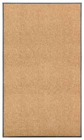 323467 vidaXL Tapete de porta lavável 90x150 cm creme