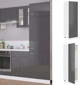 802545 vidaXL Armário para frigorífico 60x57x207 cm contraplacado cinza