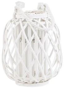 Lanterna decorativa branca 30 cm MAURITIUS