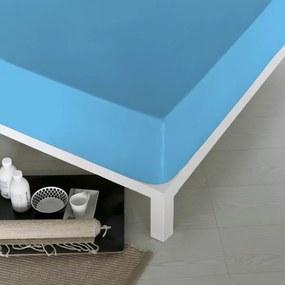 Lençol de baixo ajustável Naturals Azul - Cama de 105 (105 x 190 cm) (S2800015)