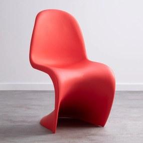 Cadeira Wavy Cor: Vermelho