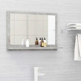 Espelho de casa de banho 60x10,5x37 cm contrapl. cinza cimento