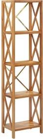 Estante com 5 prateleiras 40x30x163,5 cm madeira carvalho maciça