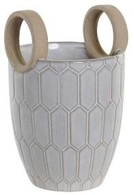 Vaso DKD Home Decor Cinzento Porcelana Moderno (14 x 14 x 21.5 cm)