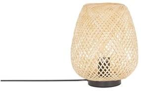 Candeeiro de mesa em bambu castanho claro 30 cm BOMU