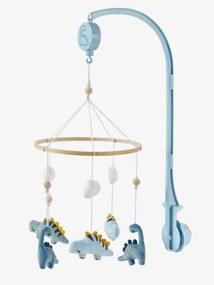 Mobile musical, Pequeno Dinossauro azul medio liso com motivo