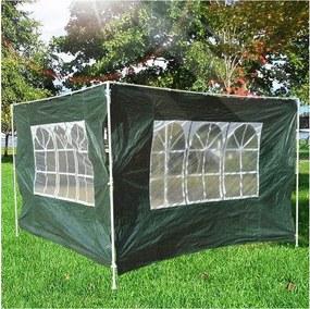 2 Lado Partições para tenda 3x3 m 3x6 m Gazebo À Prova D 'Água com janela 300x200 cm