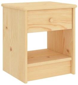 322221 vidaXL Mesa de cabeceira 35x30x40 cm madeira de pinho maciça clara