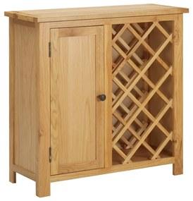 289200 vidaXL Garrafeira p/ 11 garrafas 80x32x80cm madeira de carvalho maciça