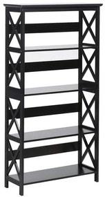 Estante de parede preta - 4 prateleiras - FOSTER