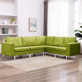 287195 vidaXL 5 pcs conjunto de sofás tecido verde