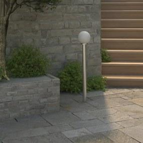 40391 vidaXL Candeeiro de pé para jardim, 1 lâmpada / 110cm